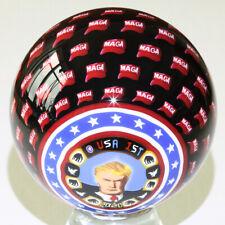 "MAGA RALLY 2.40"" Trump Commemorative Handmade Contemporary Marble by Carl Fisher"