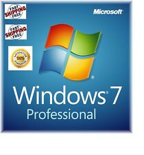 Microsoft Windows 7 Professional PRO - 64 Bit Full Version With SP1 NEW!!