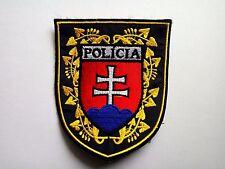 Slovakia police  patch