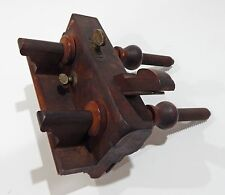 Rare Antique Slide Screw Arm Wood Brass Steel Plow Fillister Plane Tool Plough
