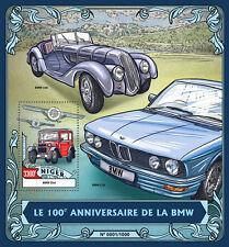 Niger 2016 MNH BMW 100th Anniv 1v S/S BMW Dixi E28 328 Cars Motoring Stamps
