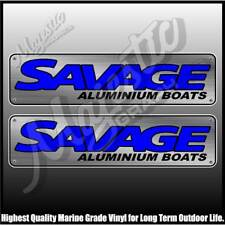 SAVAGE - ALUMINIUM BOATS -  450mm X 110mm X 2 - DECALS - BOAT DECALS