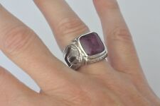 Konstantino Men's Cut Out Ring Size 10 Ruby Root Sterling Silver  Heonos New