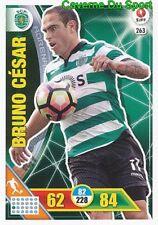 263 BRUNO CESAR BRAZIL SPORTING.CP CARTAO CARD ADRENALYN LIGA 2017 PANINI