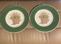 "2 Sarah's garden  8"" Plates by Wedgwood EUC  Ilex Aquifolium  1997"
