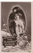 Greetings Postcard - Wishing You A Merry Xmas - Real Photograph - Ref ZZ5012