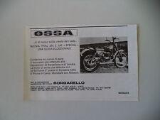 advertising Pubblicità 1977 MOTO OSSA 250/350 TRIAL