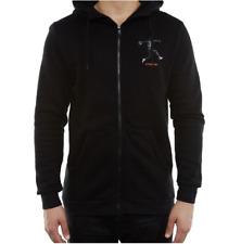 Nike Air Jordan Jumpman AJ5 Logo Mens Hoodie Black Size S Casual Full Zip Top