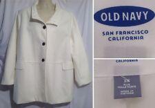 Old Navy Womens 3X Ivory White Lined Peacoat Coat Jacket NWOT