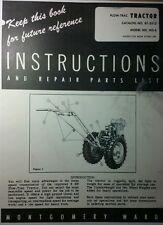 Montgomery Ward Plow Trac Walk Behind Ws 6 Garden Tractor Owner Amp Parts Manual
