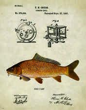 Fishing Lure Patent Poster Art Print Antique Carp Bass Reels Fish Poles PAT223