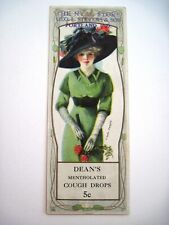 "Charming Advertising Bookmark w/1914 Calendar & ""Earl Christy"" Beautiful Pin-up*"
