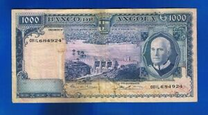 7) PORTUGAL ANGOLA  BANKNOTEN  1000 Escudos 10-06-1970  AMERICO TOMAS KM#98 RARE