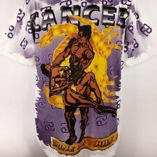 Cancer Zodiac Horoscope T Shirt Vintage 90s Bodybuilder All Over Print Large