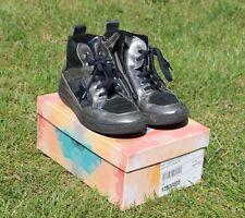 EB Leder Schuhe Gr. 36 Mädchen blau schwarz silber Halbschuhe Boots Stiefel