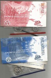 USA 1999 18 COINS D + P inclusi  QUARTERS  DOLLAR UNC