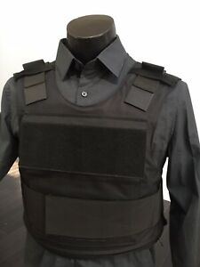 Bulletproof BODY ARMOR Carrier Vest Made With Kevlar Plates  Inserts Panels USA
