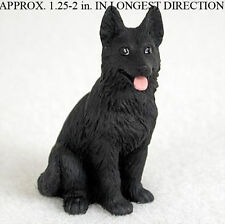 German Shepherd Mini Resin Hand Painted Dog Figurine Statue Black