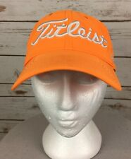 Titleist Baseball Cap Orange Pro V1 Foot Joy Embroidered Poly/Spandex Adjustable