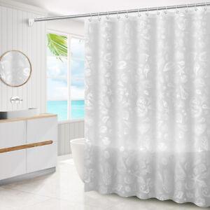 20 Patterns Anti-mildew Shower Curtain Water Resistant 1.8m × 1.8m 1.8m × 2m
