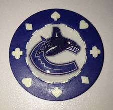 Vancouver Canucks Poker CHIP CARD GUARD WSOP, Poker Weight NHL Poker Chip