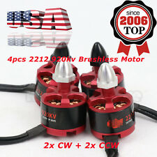 4pcs 2212 920kv Brushless Motor for Quadcopter Drone 2x CW 2x CCW 2-3s 7-12v USA
