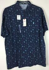 Mens Izod Saltwater Polo Shirt XXL Relaxed Short Sleeve NWT Cotton Martini