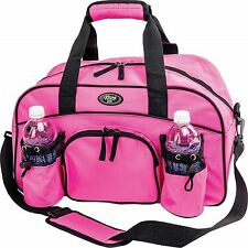 """Ladies Girls 18"""" Sports Duffle Bag by Extreme Pak™ Pink School Gym Workout"""