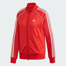 Giacca Adidas CON ZIP  TRACK JACKET SST RED DONNA GIRLS  FM3313