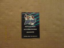 Ihl Orlando Solar Bears Vintage Circa 1995-96 Inaugural Hockey Pocket Schedule