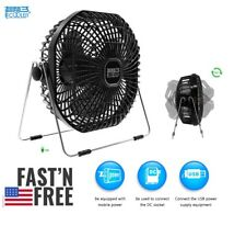 PC Cooler USB Fan, 7-Inch Frame Mini USB Table Desk Personal Fan Quiet Rotatable