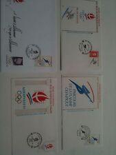 FDC - Lot 4 Enveloppes Premier Jour - Jeux Olympiques Albertville 1992