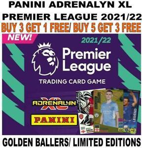 PANINI ADRENALYN XL PREMIER LEAGUE 2021/22 21/22 LIMITED EDITIONS/ GOLDEN BALLER