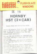 SE Finecast SE16 Flush Glazing Kit Hornby HST 2 car pk Loco 00 Gauge 1st Class