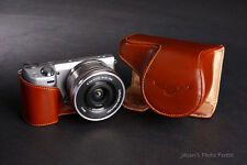Handmade  Brown Genuine real Leather Full Camera Case bag for Sony NEX-5R NEX5R