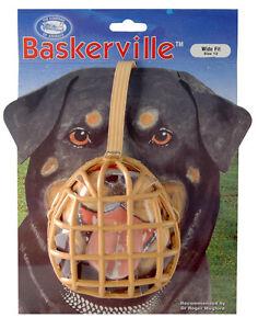 Baskerville Dog Puppy Muzzle ALL SIZES. FULLY ENCLOSED BASKET MUZZLE.