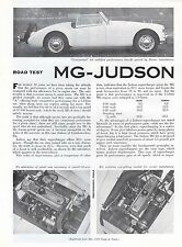 MG JUDSON Road Test by Road & Track magazine May 1958 NOS