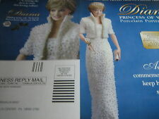 Franklin MINT PRINCESS DIANA Doll AD w/White Gown ADVERTISEMENT ONLY 1998