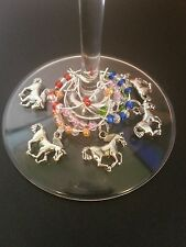 Belmont Stakes party favors, Horse racing wine charms, Belmont Stakes decoration