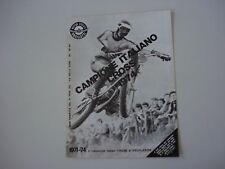 advertising Pubblicità 1974 MOTO ANCILLOTTI CROSS
