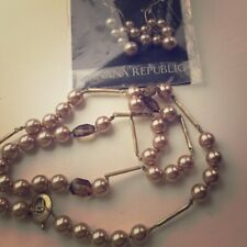 Banana Republic Pearl Necklace and Earrings