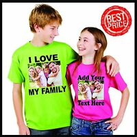 Personalized Custom T Shirt-- with Photo & Text and/or Logo make your own design