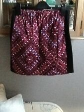 Annie Greenabelle black, purple and red stretch miniskirt UK 10