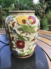More details for wood potters of burslem indian tree vase, perfect hand painted staffordshire