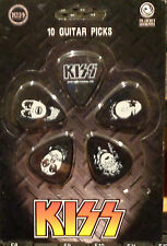 KISS  GUITAR PICKS (10)  NEW ON CARD   PLANET WAVES /  SET #2