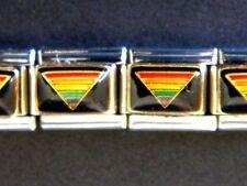 RAINBOW PYRAMID GAY RIGHTS PRIDE ENAMEL ITALIAN MODULAR CHARM, 9mm, Single Link