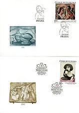 Czech Republic 2016 FDC Art Jaroslav Kral Frantisek Tichy 3v on 3 Covers Stamps