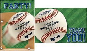 Rawlings MLB Major League Baseball Sports Banquet Party Invitations & Thank Yous