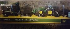 New ERTL  John Deere Hauler Semi and Tractor - Black
