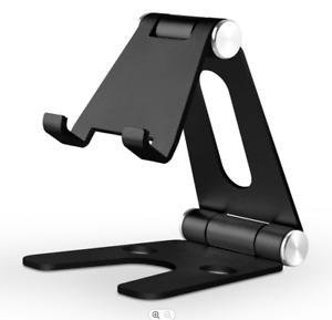 Adjustable Mobile Phone Holder - Desk, Aluminium, SmartPhone Stand, Universal
